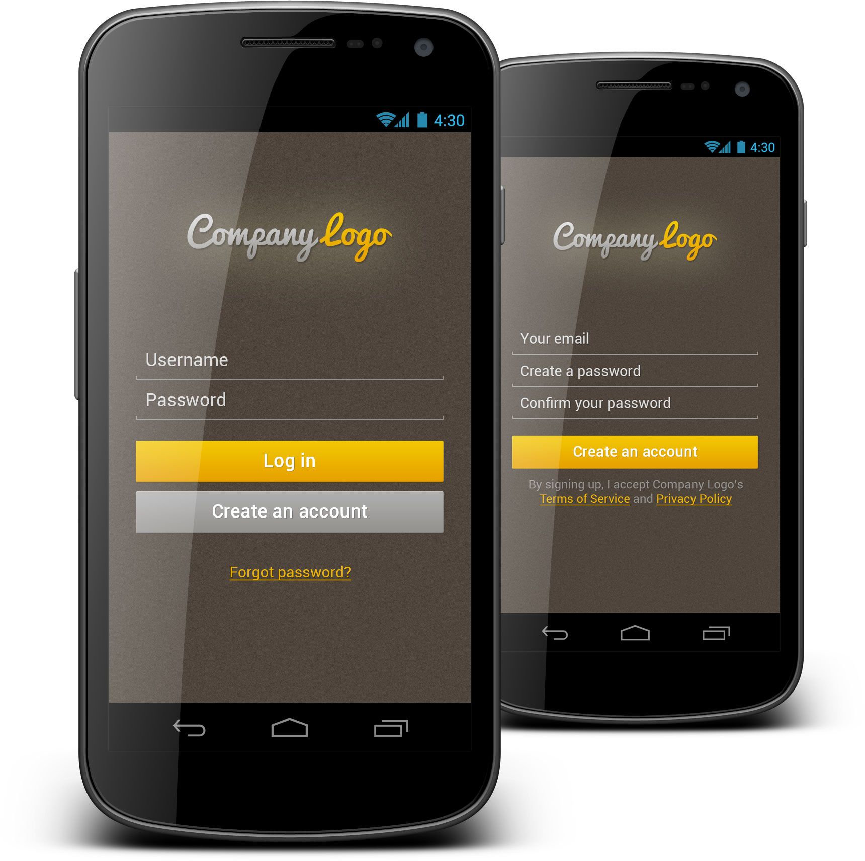Login form We created very nice android mobile login form
