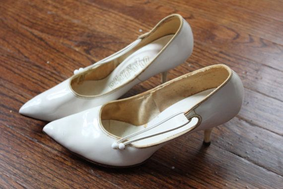 Vintage MARTINELLI White Patent Leather Shoes by PhatCatVintage, $18.50