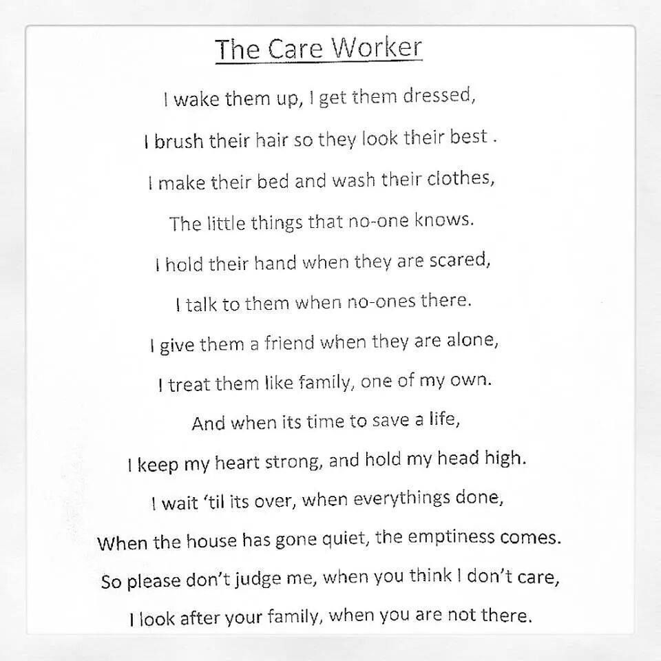 The Care Worker Caregiver quotes