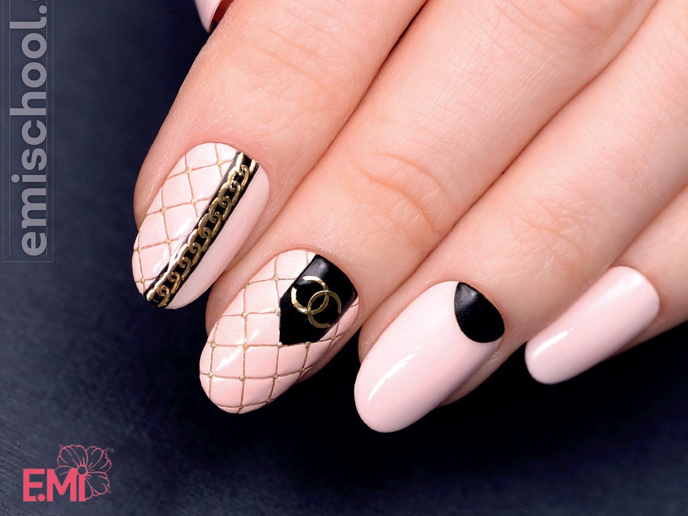 Nail Art Step By Step Guide How To Do Fashion 3d Design In Beige And