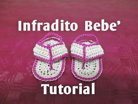 Sandaletti Infradito Per Neonato Alluncinetto Tutorial Youtube