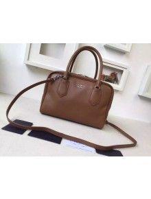 Prada 1BB010 Medium Inside Top Handle Bag Cinnamon+Turquoise Fall 2015