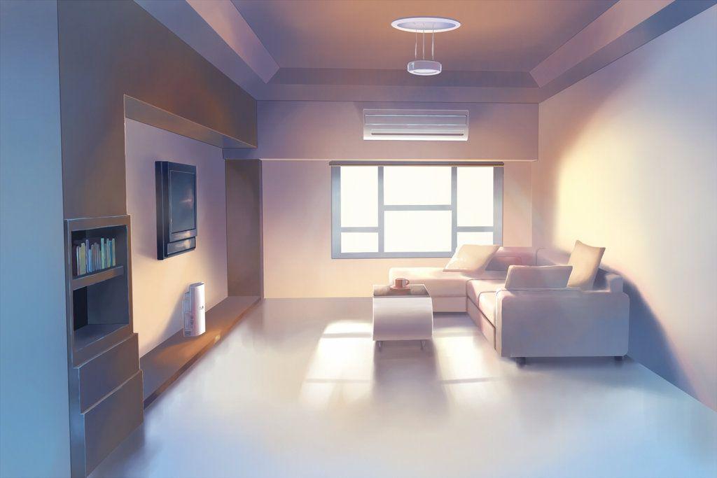 Painting Process video Anime BG Interior | Anime scenery ...