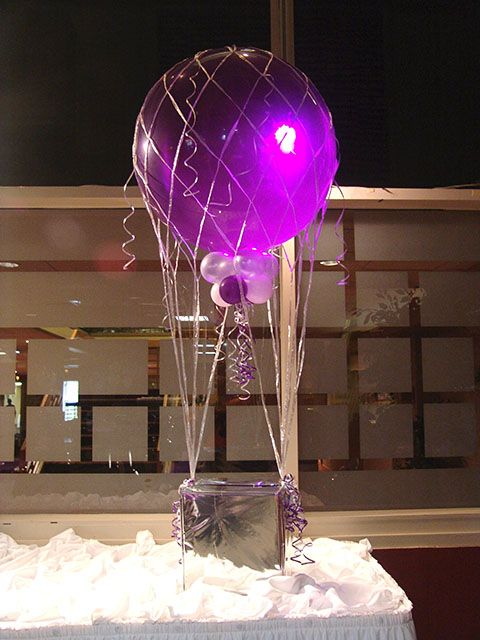 Make a hot air balloon centerpiece for your coffee table