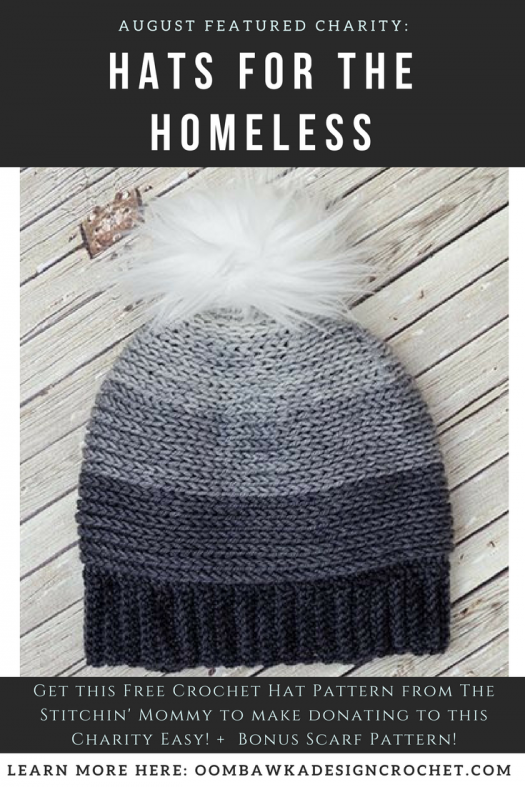 Hats for the Homeless Presented by The Stitchin\' Mommy. | Bufanda ...