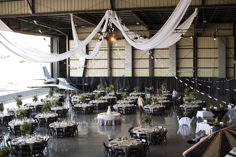 Sophia Bradley Airplane Hanger Wedding Themed