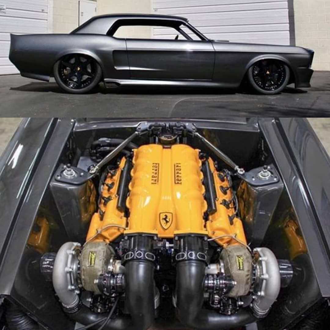 Twin Turbo Ferrari Powered Owner Builde In 2020 Custom Muscle Cars Muscle Cars Ford Mustang