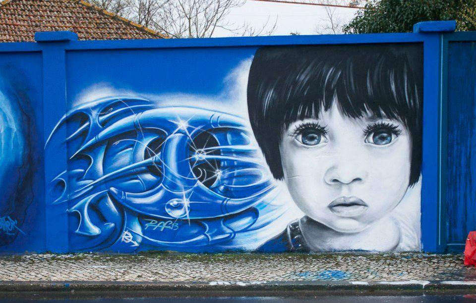 Rostos Do Muro Azul, Lisboa   Portugal \\ Raf Rui Ferreira Good Ideas