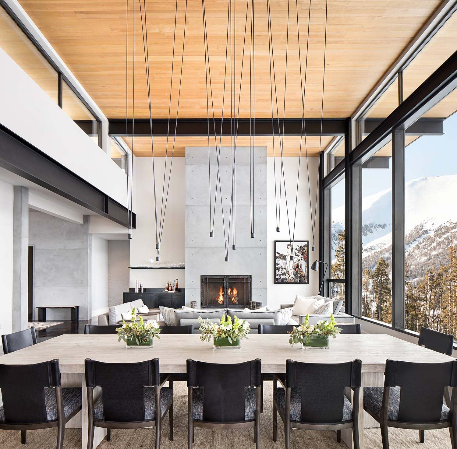 Interior Designed Living Rooms Amusing Modern Mountain Home Boasts Chic And Stylish Living In Montana 2018