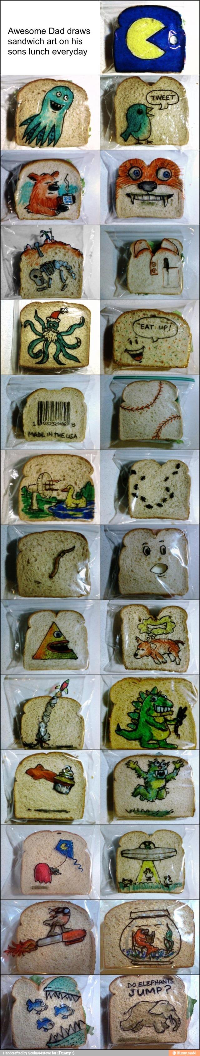 Decoración bolsas sandwiches