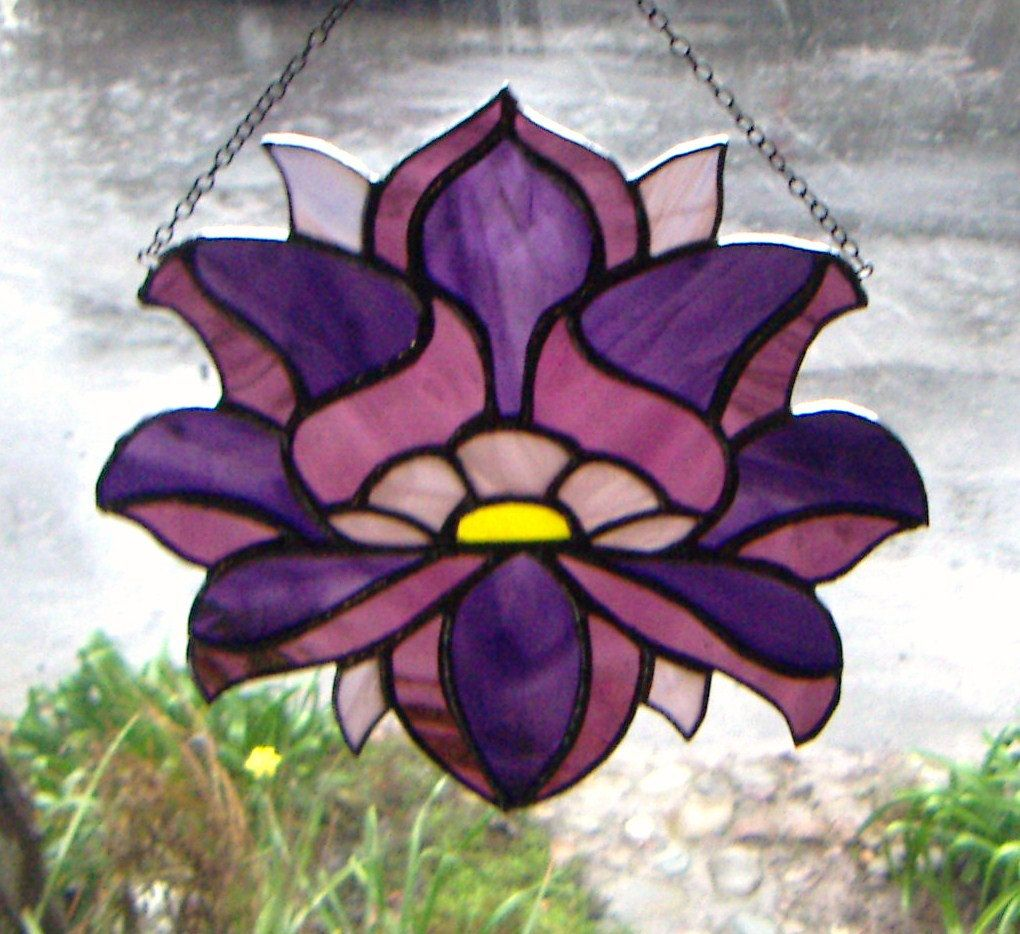 Chakra Stained Glass Lotus Flower Lotus Design Lotus And Glass