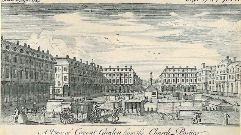 Covent Garden Piazza in 1749 Covent garden, London