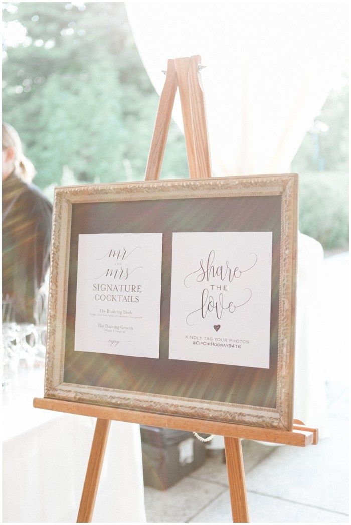 design inspiration from a connecticut wedding planner Signage