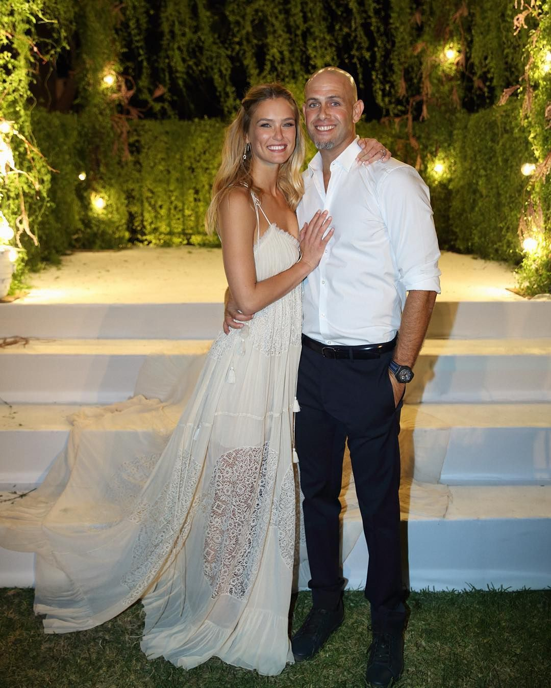 Bar Refaeli Reveals Her Wedding Dress That Only A Supermodel Could Pull Off Wedding Dresses Photos Sheer Wedding Dress Celebrity Wedding Dresses