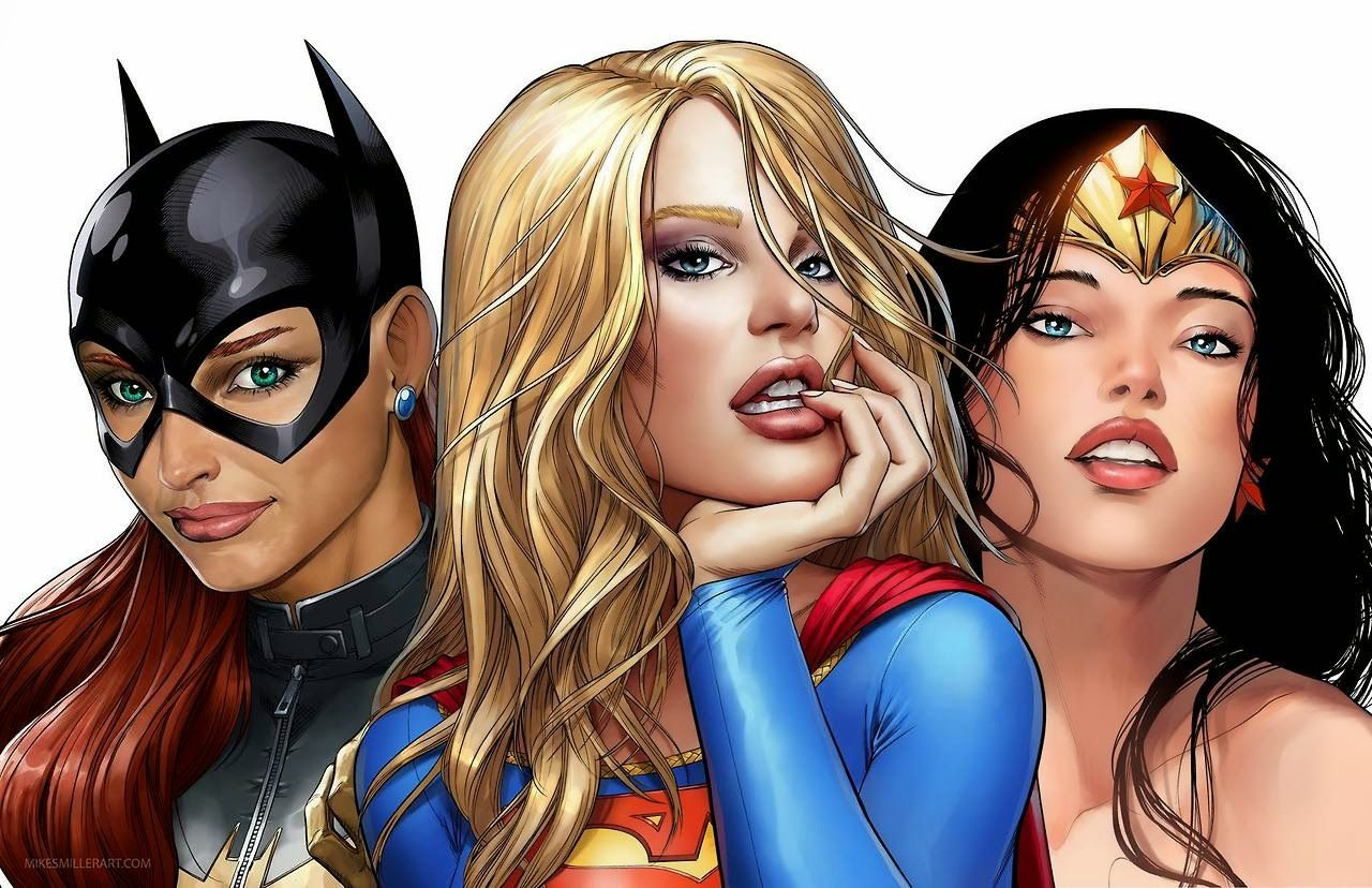 Robs Room: Batgirl, Supergirl, and Wonder Woman by Mike S