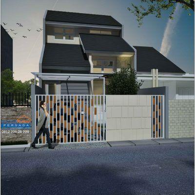 desain rumah 2 lantai di lahan 9 x 15 m2 | dr - 904