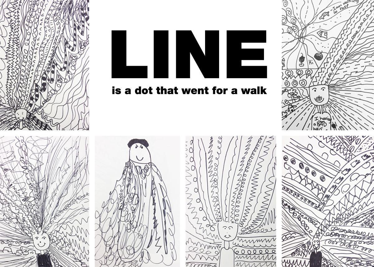 Line Art Techniques : Art elements with kids line teaching