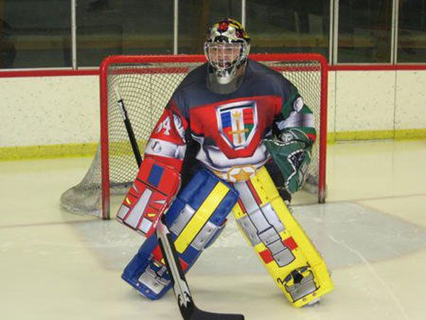 OH MY GOD | holy moly what a goalie | Goalie pads, Hockey pads