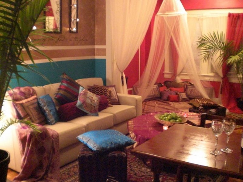 Bedroom: Bedroom Indian Moroccan Decor, Indian Themed Bedroom 800x600Px  [Kokosow]