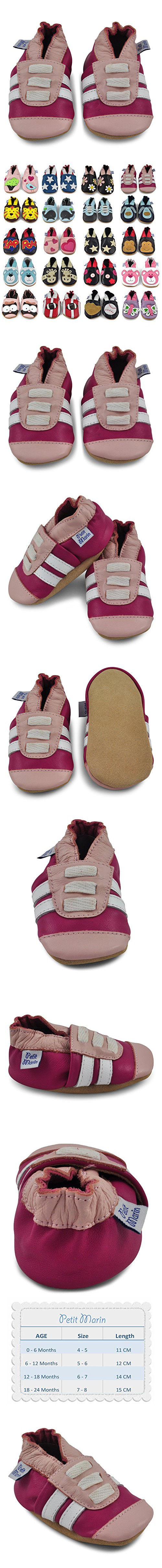 Petit Marin Beautiful Soft Leather Baby Shoes with Suede Soles
