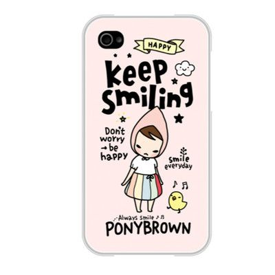 [NEW] PONY BROWN Hard Case Cover For Apple iPhone 4 4S 4G case : BABY PINK