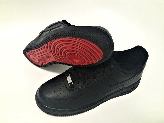 official photos 2f98a ea17d Custom red bottom nike air force 1 christian louboutin inspired designer  fashion trainers sneakers