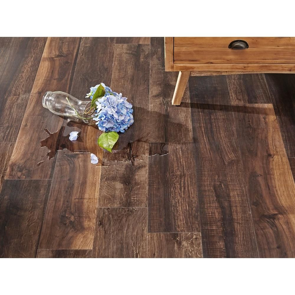 Colorado Mocha Hand Sed Plank With Cork Back 6 5mm 100376821 Floor And Decor