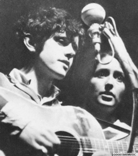 Donovan and Joan Baez, photo by Edward F. Watkins