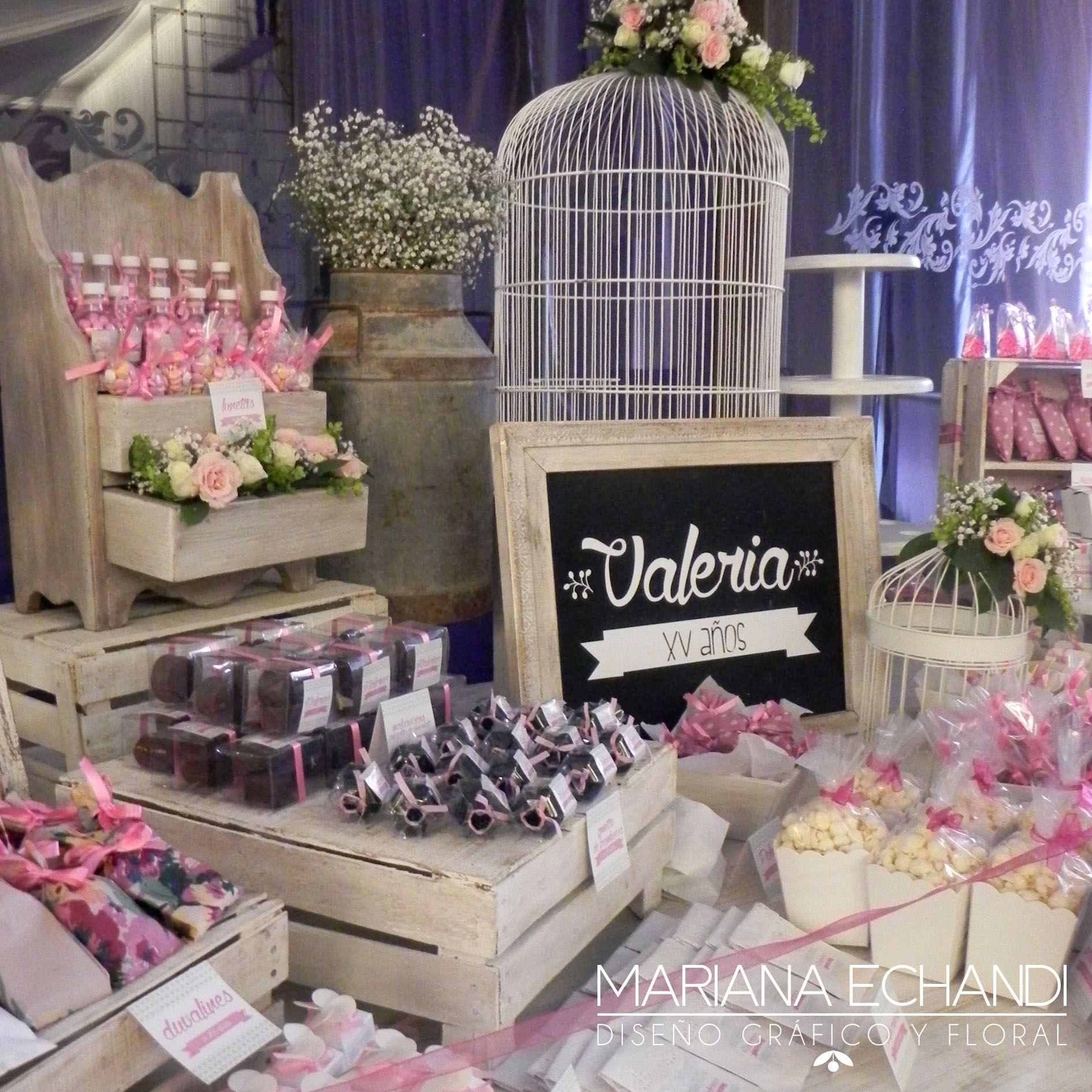 Candy bar xv a os candy bar mesa de dulces pinterest - Decoracion fiestas vintage ...