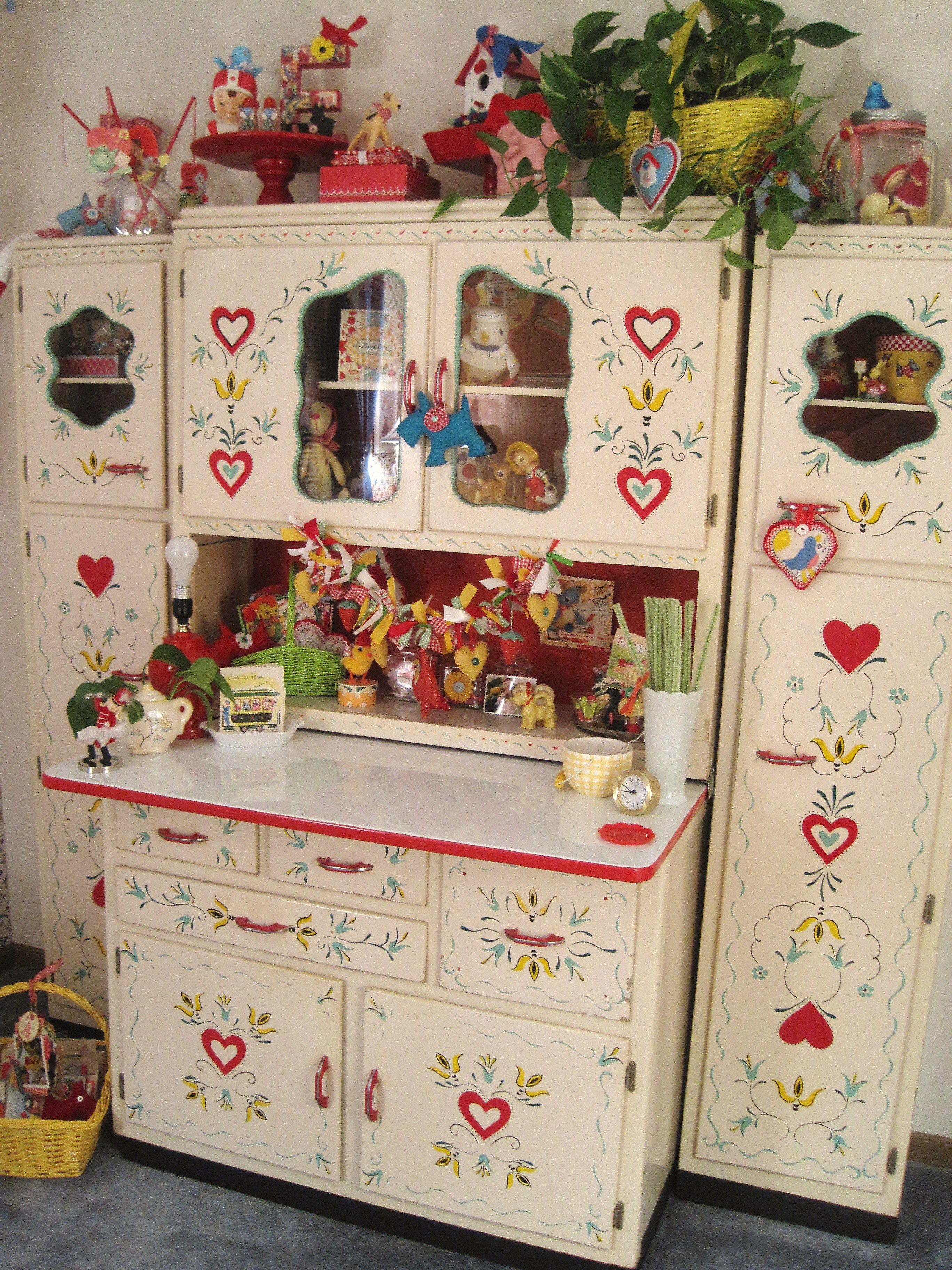 image vintage kitchen craft ideas. My Craft Room Hoosier (make Seirich, Louisville, KY) 1930\u0027s · Red KitchenKitchen CupboardsKitchen IdeasVintage Image Vintage Kitchen Ideas