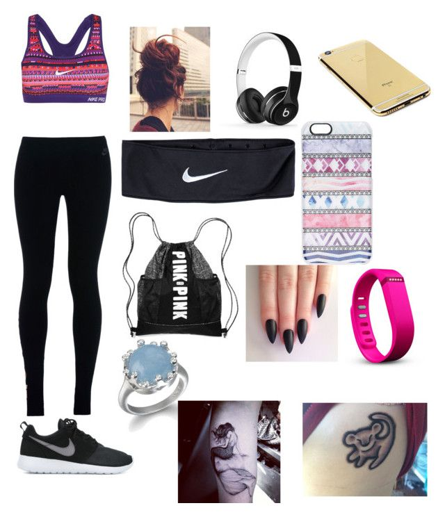 """""""Untitled #495"""" by oliviamarvel on Polyvore featuring NIKE, Beats by Dr. Dre, Goldgenie, Casetify, Fitbit and Disney"""