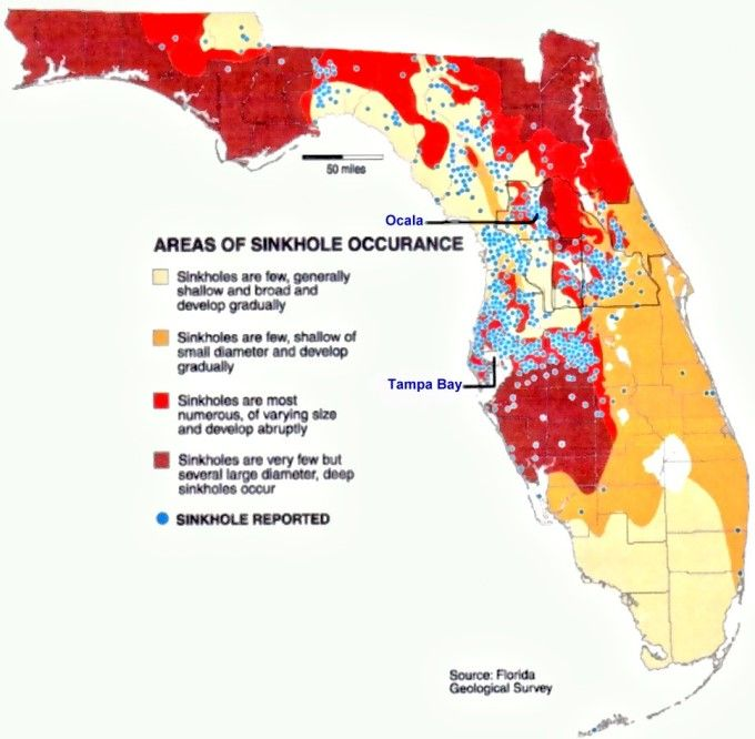 Sinkhole Map Of Florida What causes sinkholes? | Map of florida, Map, Moving to florida