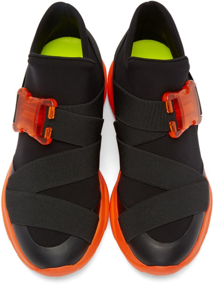 5efbf9a4a6a Christopher Kane - Black Neoprene Buckle High-Top Sneakers