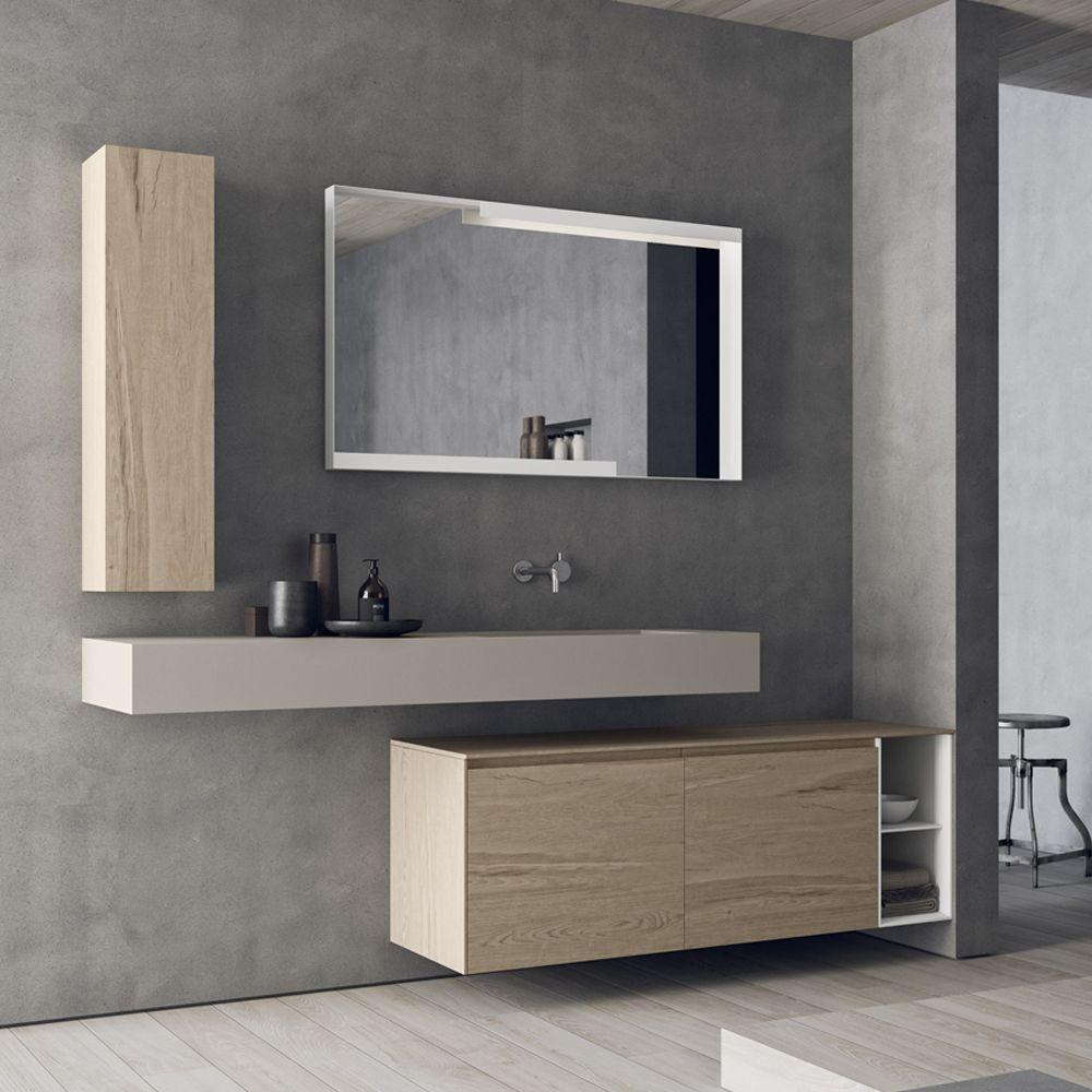 Composizione bagno sospesa design moderno Calix Novello | Bagno ...