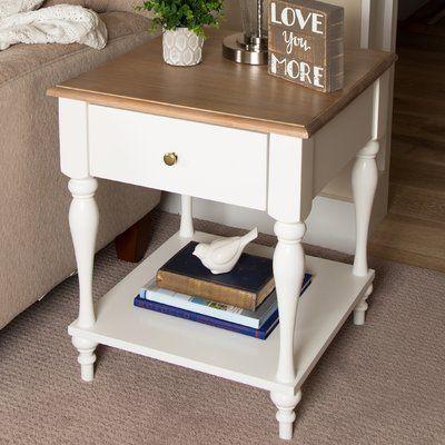 Winston Porter Meera Wood Top 1 Drawer Nightstand Nightstand