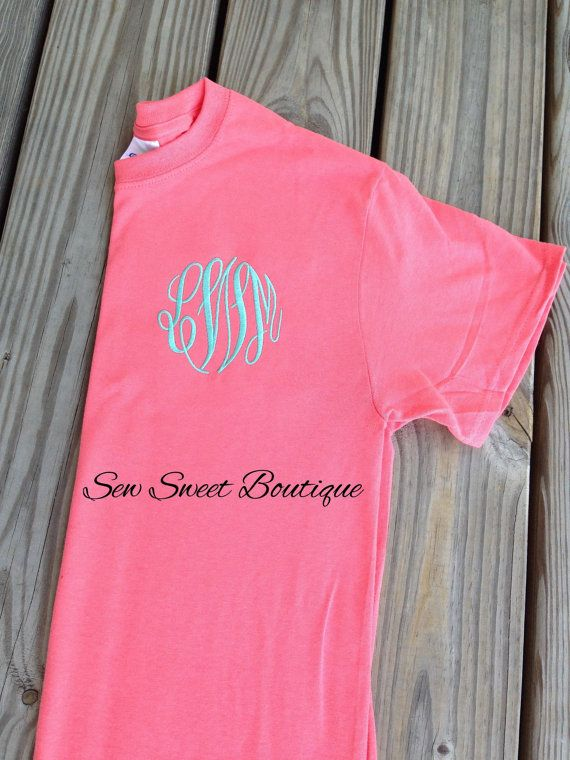 af3ccea25cb33 LaSt DaY SALE Monogram Shirt embroidered monogrammed tshirt | Things ...