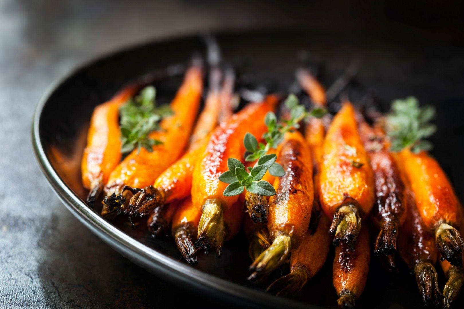 Amerikanisches Weihnachtsessen.Glasierte Karotten Rezept Vegetarisch Beilage Recipes