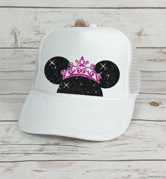 Disney Trucker Hat Minnie Mouse Princess Crown    Cinderella Castle     Princess    Minnie Mouse Ears 200dac8212d