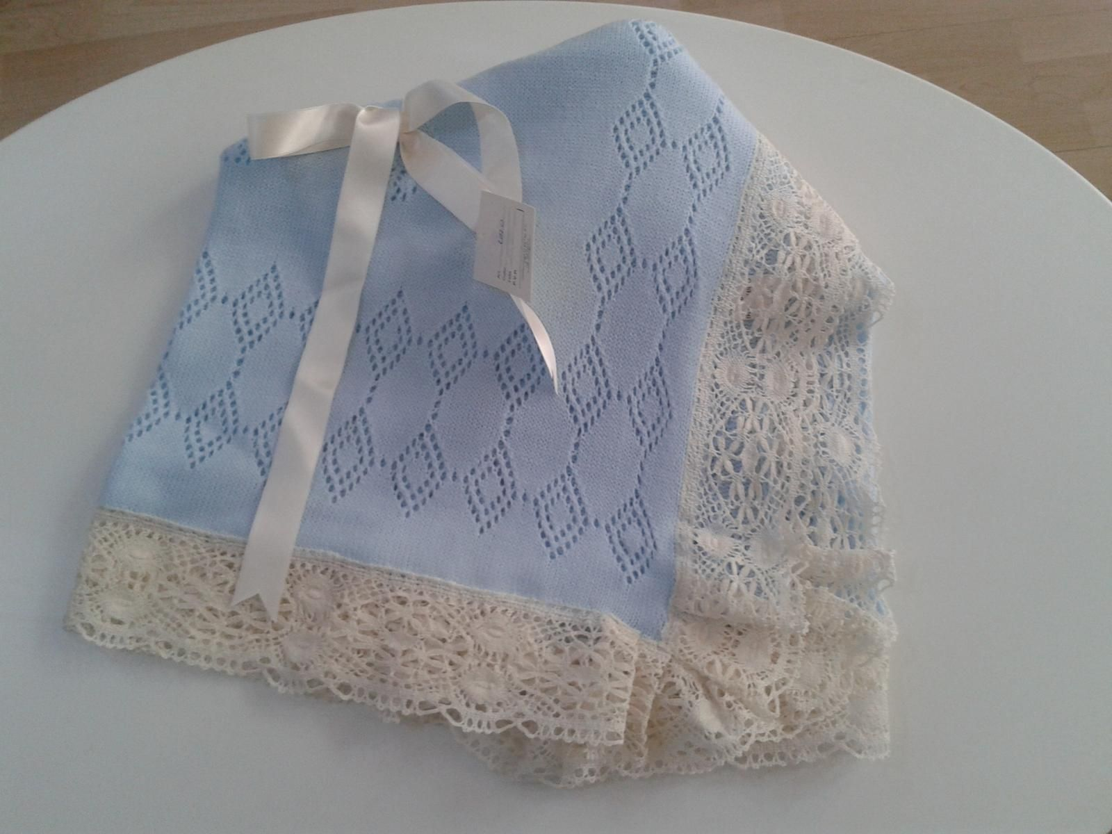 Toca de lana baby crochet blanket toquilla de beb - Toca de ganchillo ...