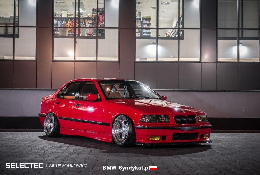 Bmw E36 3 Series Red Stance Slammed