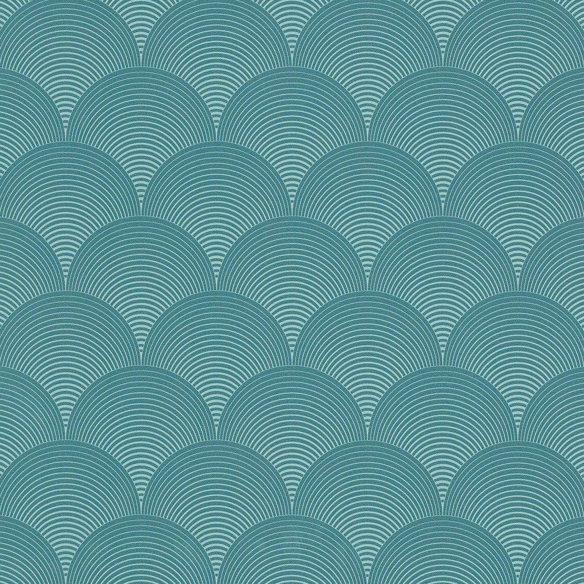 Papier Peint ARTDECO, Vinyle Sur Intissé Graphique, Bleu   Saint Maclou
