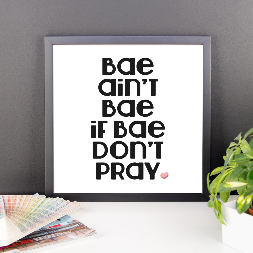 Bae Bae Bae Framed Poster