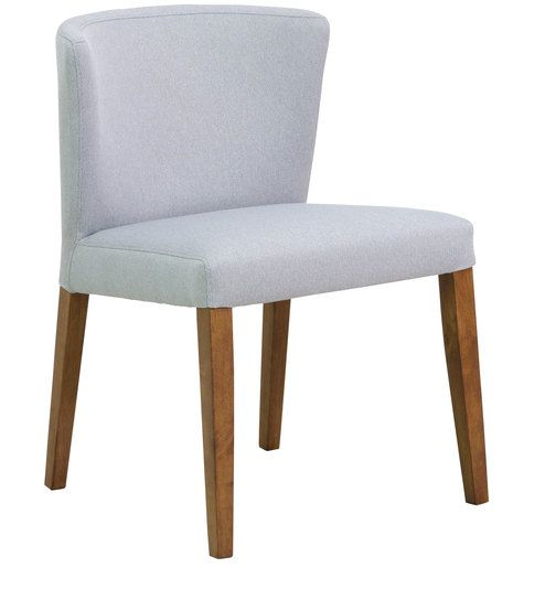 Emilio Dining Chair Set Of 2 In Silver Grey Colour With Cocoa
