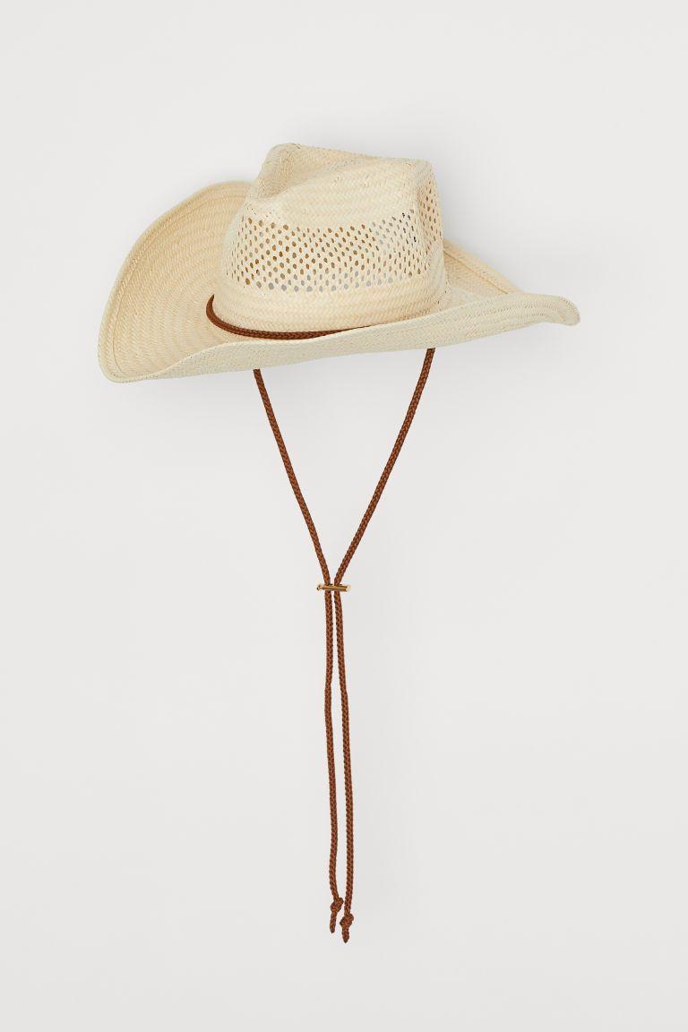 Straw Hat Light Beige Ladies H M Us Strahat Hat Beige