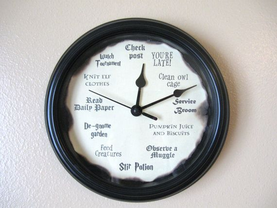 Harry potter clock inches jameson hp room harry for Mobili harry potter