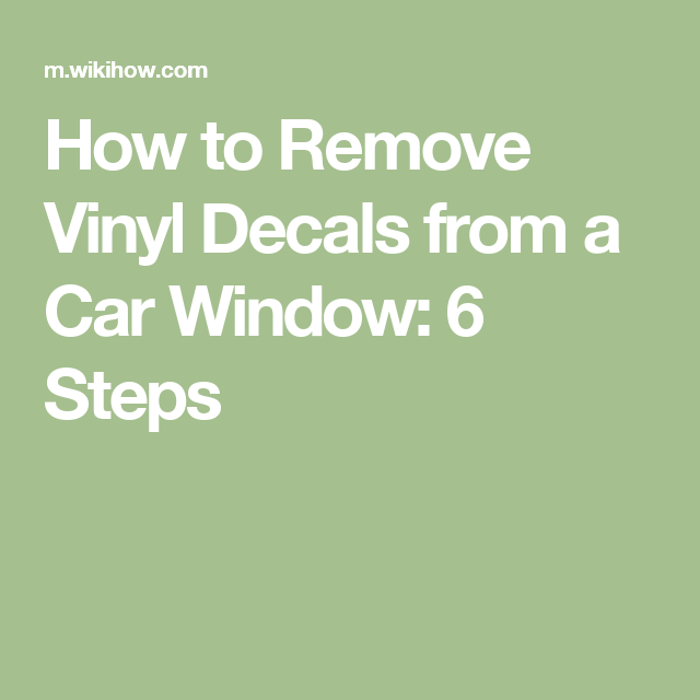 Remove Vinyl Decals From A Car Window Cars Vinyls And Vinyl Decals - Custom vinyl decals for glass   removal options