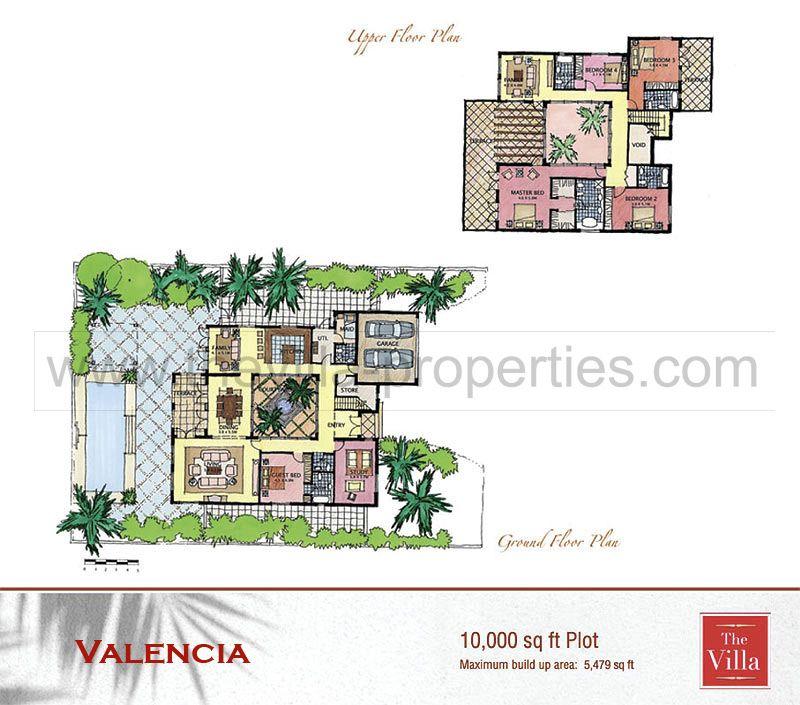 Valencia Floor Plan The Villa Dubai floor plans – Dubai House Floor Plans