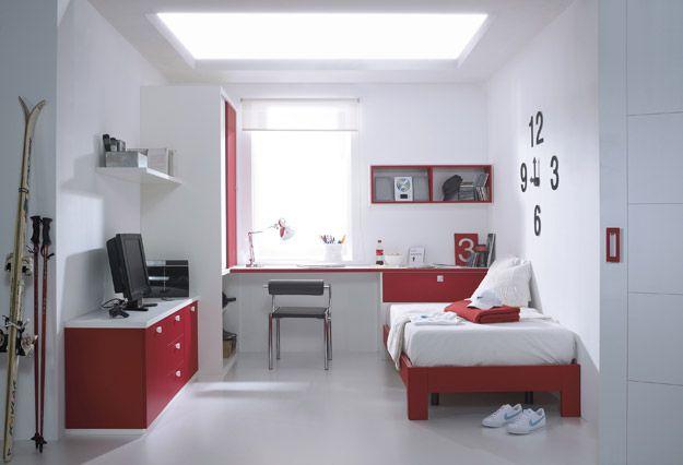 Una habitaci n juvenil con aire n rdico y un dise o muy for Muebles hermida