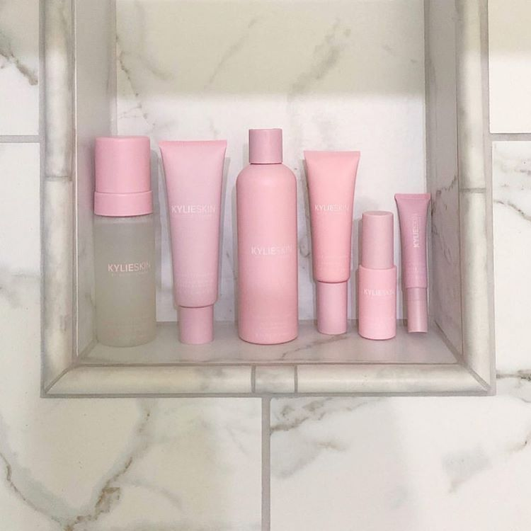 """Kylie Skin by Kylie Jenner on Instagram: """"💕 shower goals! @simplyshora: """"Aesthetically pleasing 💕I've been using it for only a couple of days but the face wash is my FAVORITE"""""""""""