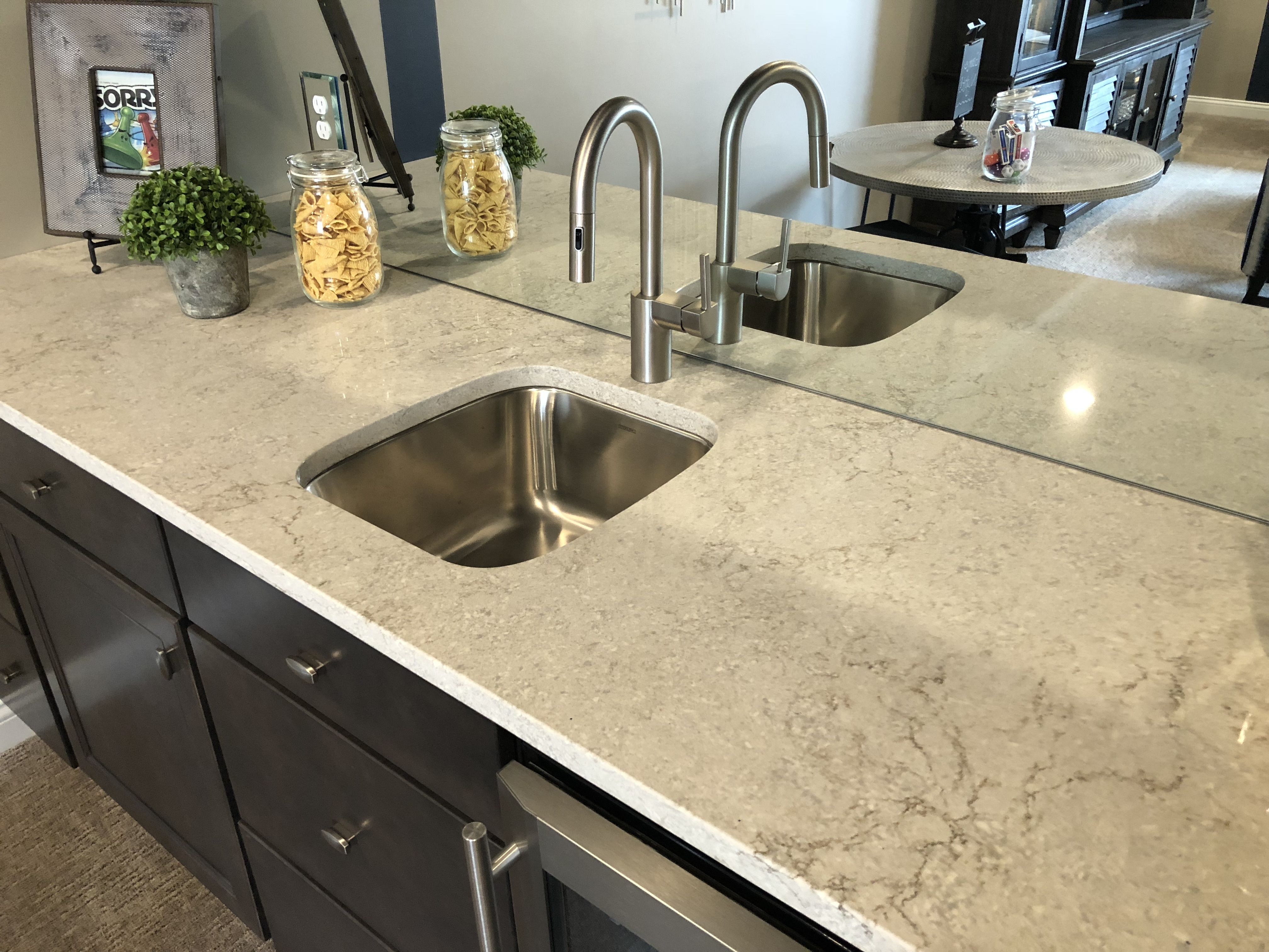 Solid Surface Countertops Utah Gray Lagoon Quartz Solid Surface Tops In 2019 Solid
